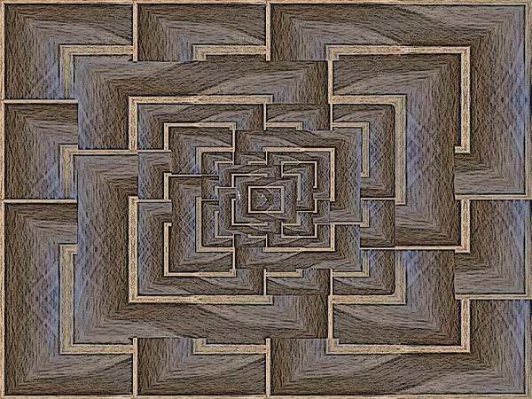 Manipulated Digital Art - The Maze Within by Tim Allen