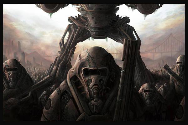 Cyborg Digital Art - The Medusa Fields by Martin Bland
