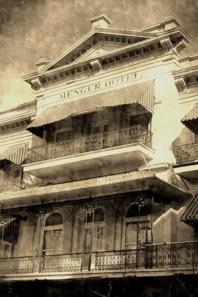 Digital Art - The Menger Hotel Vintage by Sarah Broadmeadow-Thomas