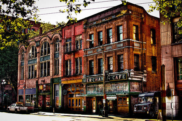 Photograph - The Merchant Cafe - Seattle Washington by David Patterson