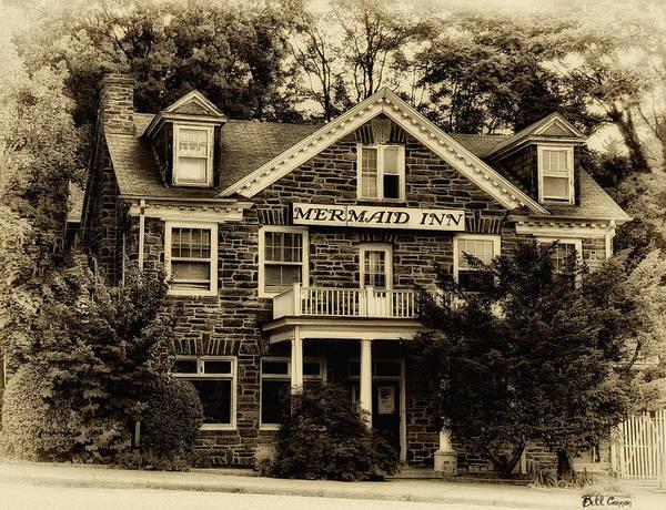 Chestnut Hill Photograph - The Mermaid Inn - Chestnut Hill by Bill Cannon