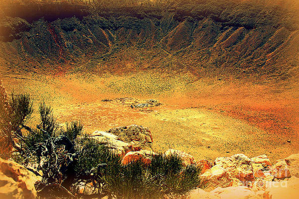 Photograph - The Meteor Crater In Az 1 by Susanne Van Hulst