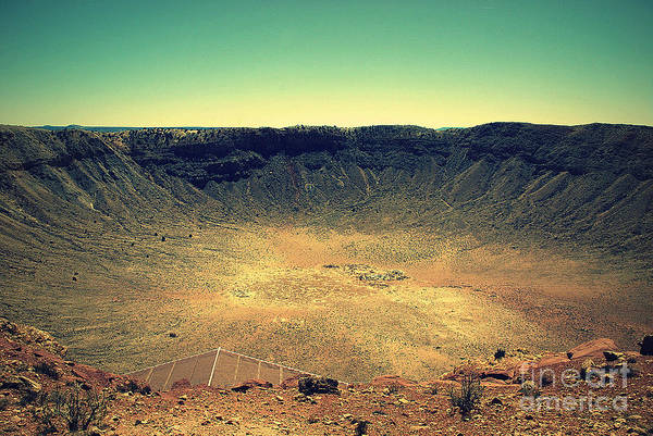 Photograph - The Meteor Crater In Az 2 by Susanne Van Hulst