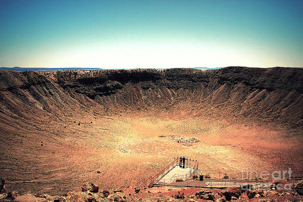 Photograph - The Meteor Crater In Az 3 by Susanne Van Hulst