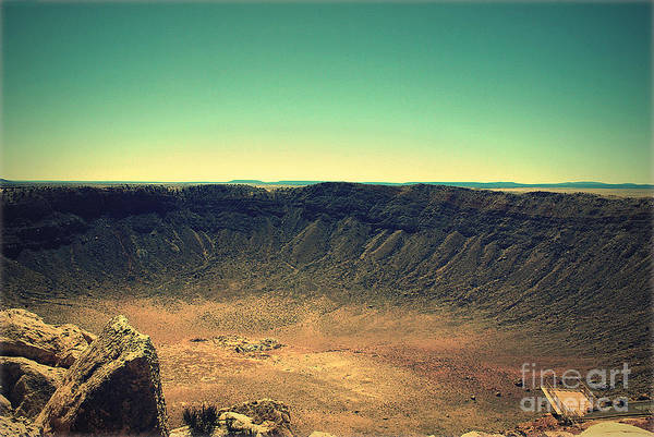 Photograph - The Meteor Crater In Az 4 by Susanne Van Hulst