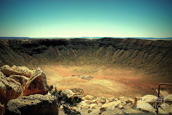 Photograph - The Meteor Crater In Az by Susanne Van Hulst