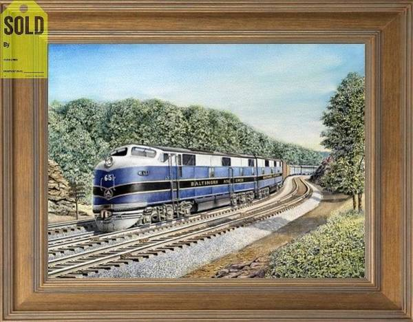 Freight Trains Painting - The Metropolitan Special by Chris Nelson