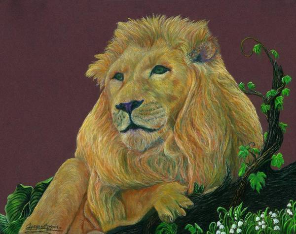 Wall Art - Pastel - The Mighty King by Jyvonne Inman
