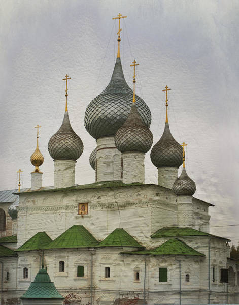 Onion Domes Photograph - The Monastery Of The Resurrection. Uglich Russia by Juli Scalzi