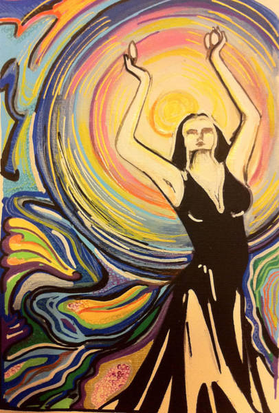Wall Art - Painting - The Moon Dancer by Stefania Chiaravalle