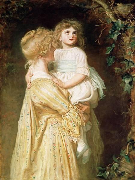 Millais Painting - The Nest by Sir John Everett Millais
