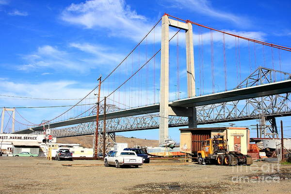 Alfred Zampa Wall Art - Photograph - The New Alfred Zampa Memorial Bridge And The Old Carquinez Bridge by Wingsdomain Art and Photography