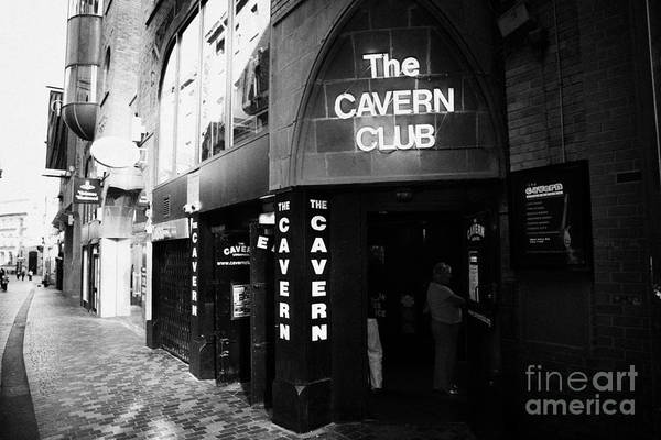 Mathew Photograph - The New Cavern Club In Mathew Street In Liverpool City Centre Birthplace Of The Beatles Merseyside by Joe Fox