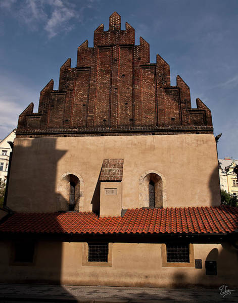 Photograph - The New Old Synagogue In Prague by Endre Balogh