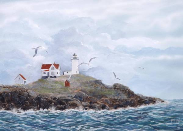 Painting - The Nubble Light by Gary Partin
