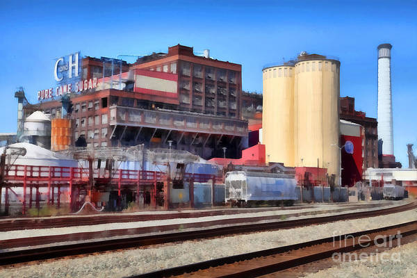 Photograph - The Old C And H Pure Cane Sugar Plant In Crockett California . 5d16770 by Wingsdomain Art and Photography
