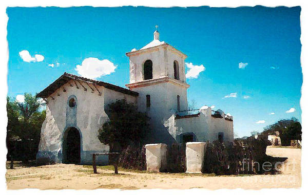 Misson Photograph - The Old Church by Jean Megahan