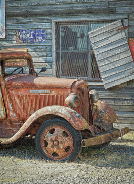 Wrecking Yard Photograph - The Old Dodge by Steve McKinzie