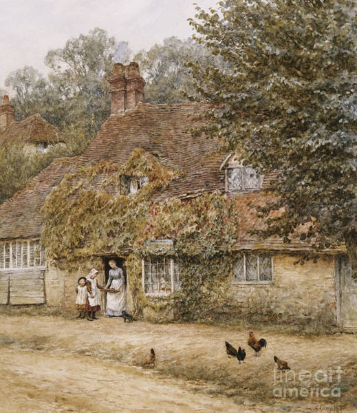 Exterior Painting - The Old Fish Shop Haslemere by Helen Allingham
