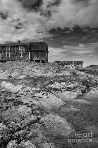 Photograph - The Old Fisherman's Hut Bw by Heiko Koehrer-Wagner