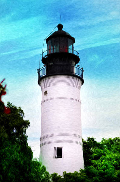 Photograph - The Old Key West Lighthouse by Bill Cannon