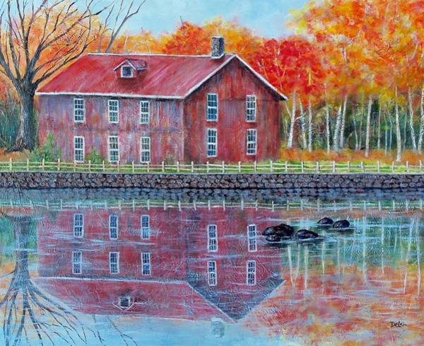 Wall Art - Painting - The Old Mill by Susan DeLain