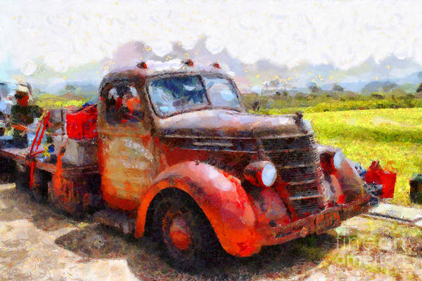 Photograph - The Old Rusty Jalopy . 7d15500 by Wingsdomain Art and Photography