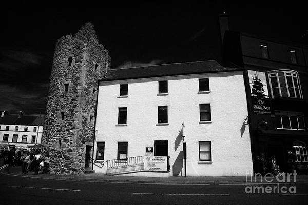 Wall Art - Photograph - The Old Tower House Housing Bangor Tourist Information Centre County Down Northern Ireland by Joe Fox