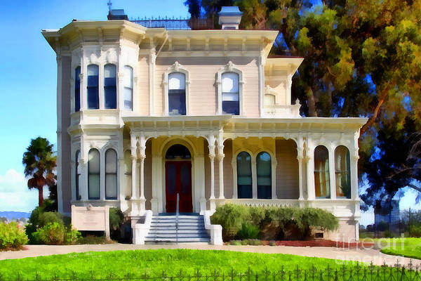 Photograph - The Old Victorian Camron-stanford House In Oakland California . 7d13440 by Wingsdomain Art and Photography