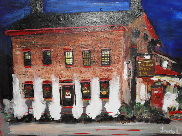 Painting - The Olde Bryan Inn by Laurie Lundquist