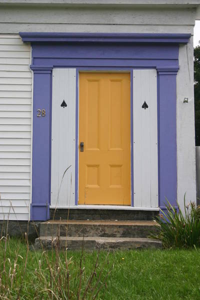 Wall Art - Photograph - The Only Yellow Door by Dennis Curry