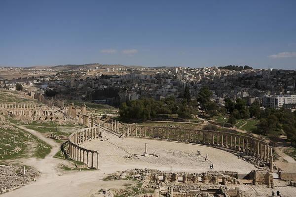 Jerash Photograph - The Oval Plaza by Taylor S. Kennedy