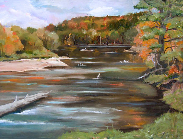 Painting - The Pemi In Autumn Two by Nancy Griswold