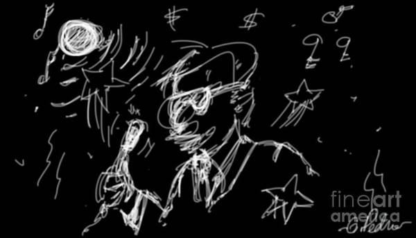 Suspense Digital Art - The Performer by George Pedro