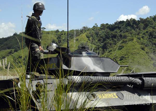 Photograph - The Philippine Marine Battalion Landing by Stocktrek Images