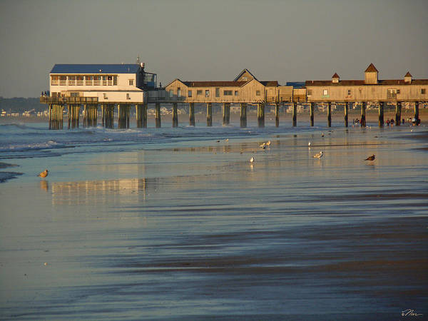 Photograph - The Pier On Old Orchard Beach by Nancy Griswold