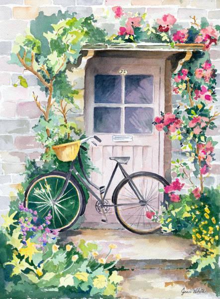 Flowers Bike Wall Art - Painting - The Pleasure Of Biking In England by Jean Walker White