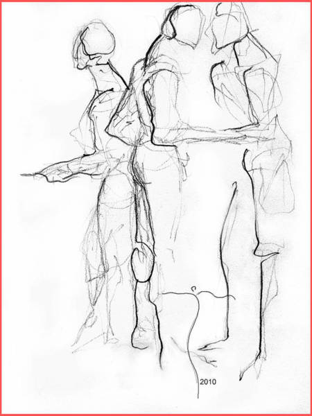 Drawing - The Pointers' by James Lanigan Thompson MFA