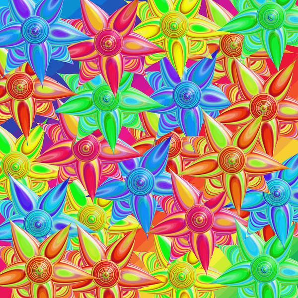 Blooms Digital Art - The Power Of Flowers by Betsy Knapp