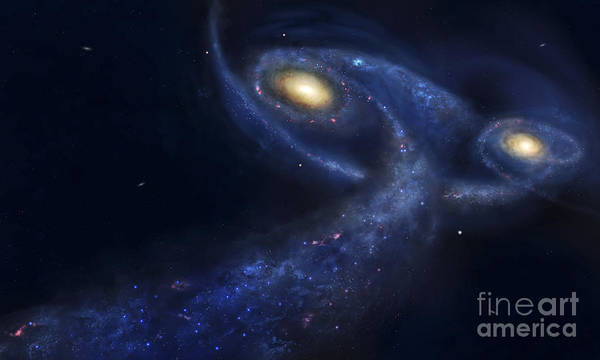 M31 Digital Art - The Predicted Collision by Fahad Sulehria