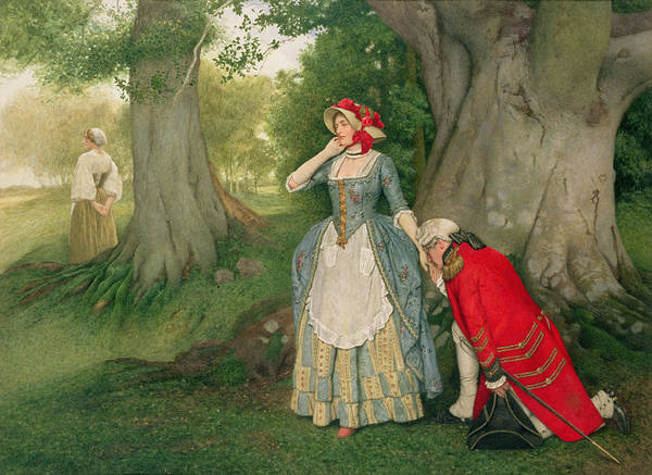 Corset Painting - The Proposal by Sir James Dromgole Linton