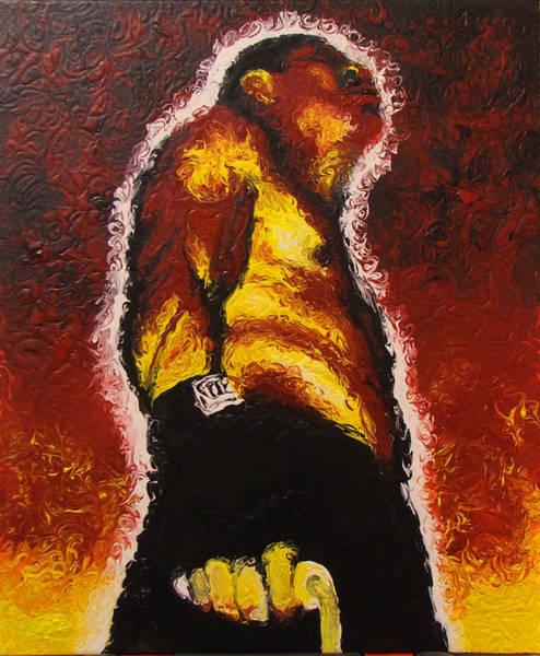 Pugilism Painting - The Pugilist by Brian Carlton