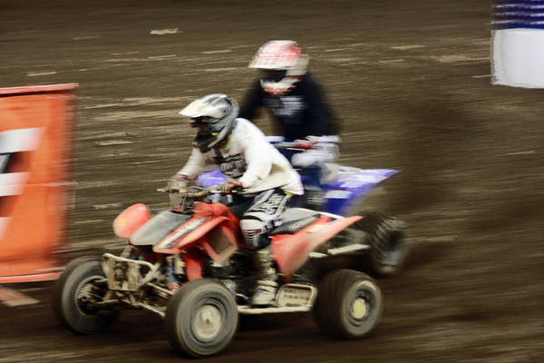 Atv Photograph - The Race To The Finish Line by Karol Livote