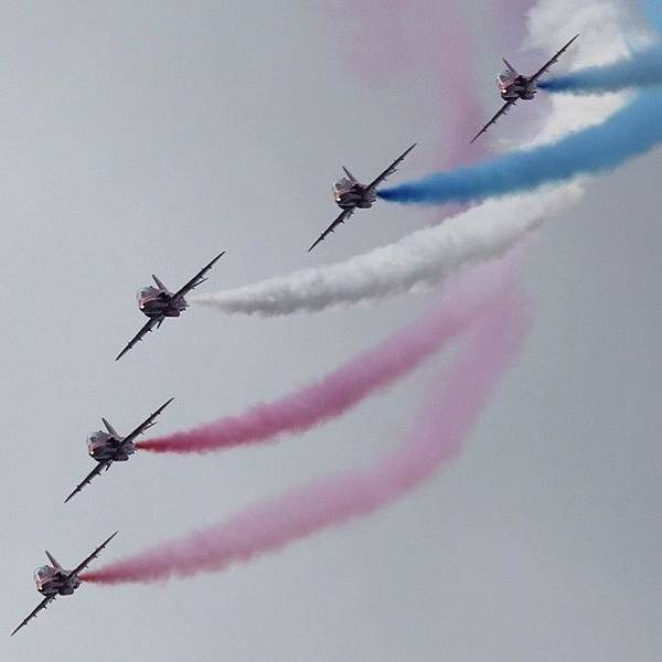 Unique Wall Art - Photograph - The Red Arrows by Unique Louise