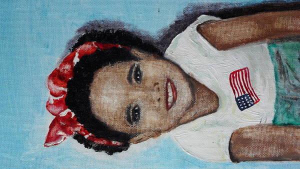 The Red Bandana Art Print by Lora Bradshaw