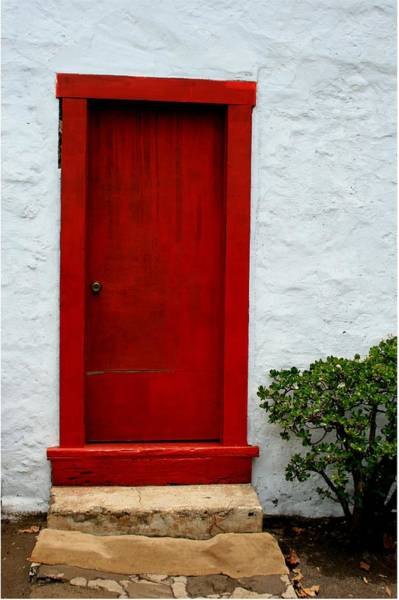Holy Ghost Photograph - The Red Door by Karon Melillo DeVega