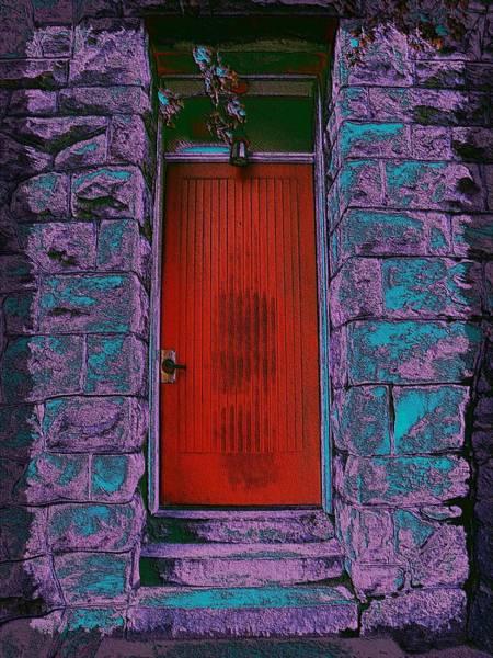Granite Digital Art - The Red Door by Tim Allen