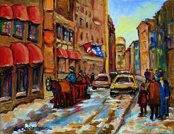 Painting - The Red Sled by Carole Spandau