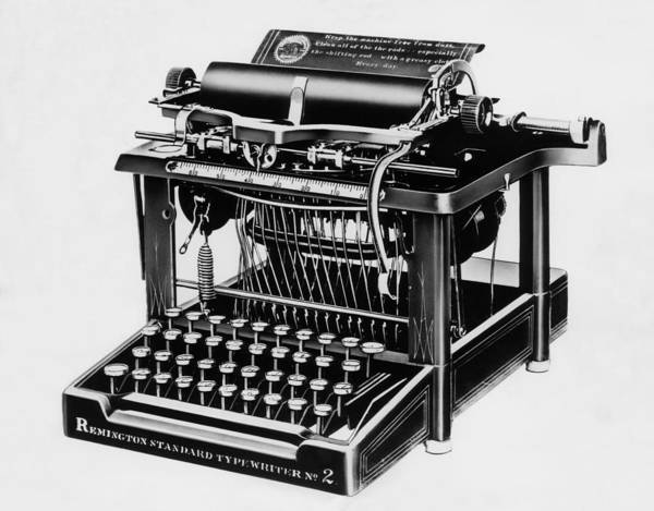 Remington Photograph - The Remington 2, The First Typewriter by Everett