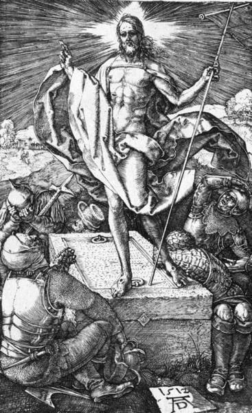 German Renaissance Drawing - The Resurrection Of Christ by